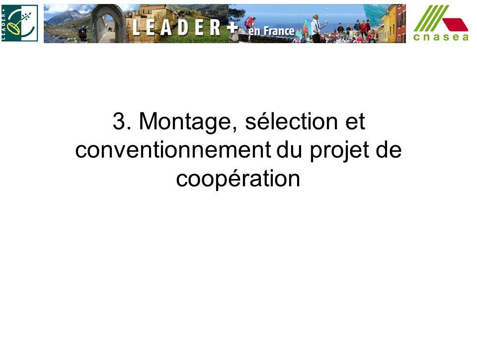 3. Montage, sélection et conventionnement du projet de coopération