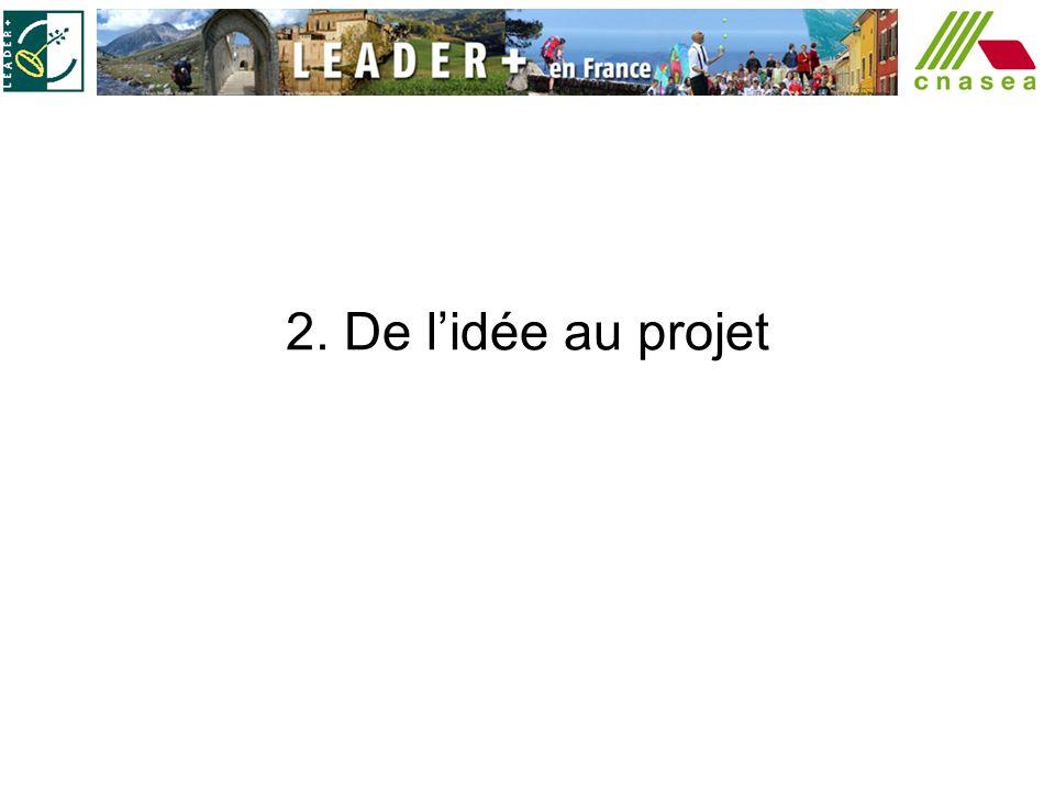 2. De lidée au projet