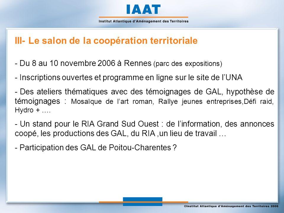 - Du 8 au 10 novembre 2006 à Rennes (parc des expositions) - Inscriptions ouvertes et programme en ligne sur le site de lUNA - Des ateliers thématique