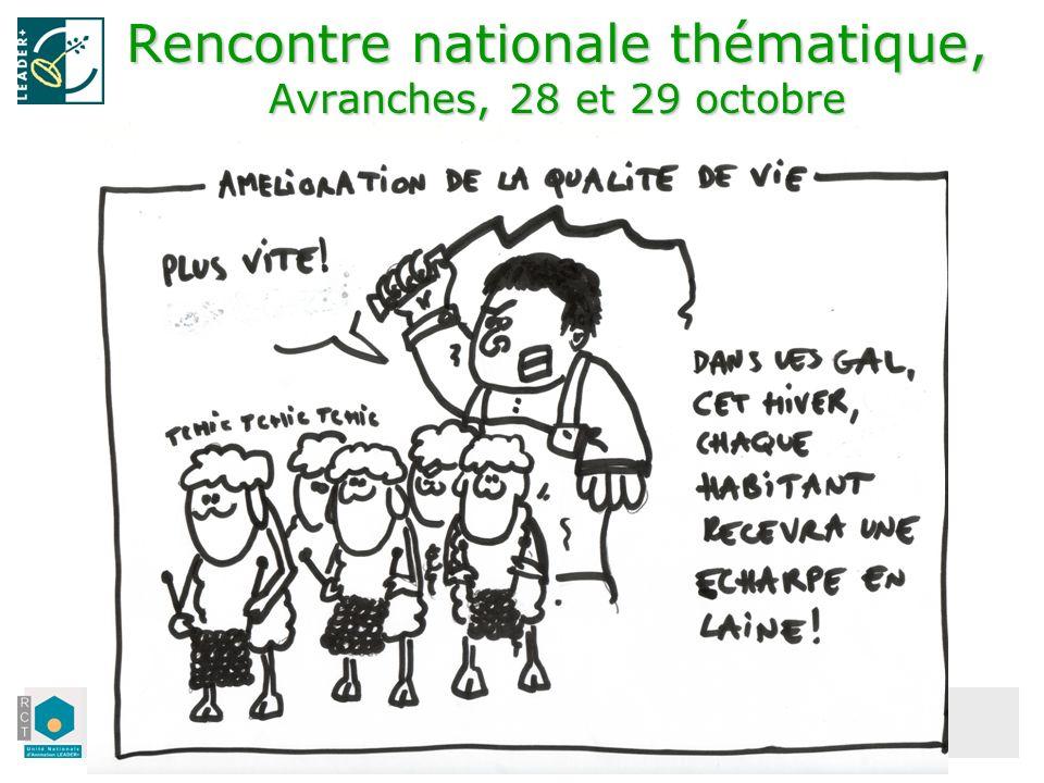 Unité Française dAnimation LEADER+ Rencontre nationale thématique, Avranches, 28 et 29 octobre