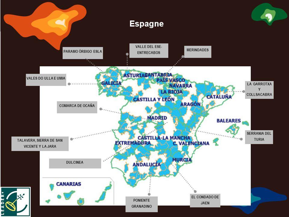 Marca de Calidad Territorial Europea Marque de Qualité Territoriale Européenne Marchio di Qualità Territoriale Europea σημάδι της ευρωπαϊκής εδαφικής ποιότητας PARAMO ÓRBIGO ESLA VALLE DEL ESE- ENTRECABOS MERINDADES LA GARROTXA Y COLLSACABRA SERRANIA DEL TURIA EL CONDADO DE JAEN PONIENTE GRANADINO COMARCA DE OCAÑA VALES DO ULLA E UMIA TALAVERA, SIERRA DE SAN VICENTE Y LA JARA DULCINEA Espagne