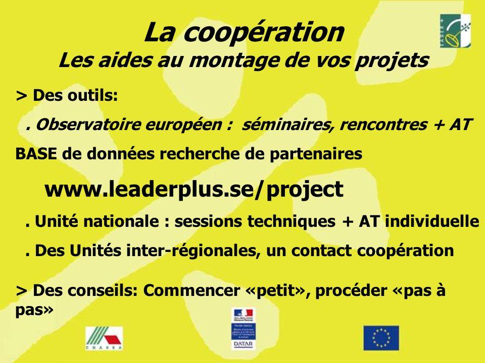 La coopération Les aides au montage de vos projets > Des outils:.