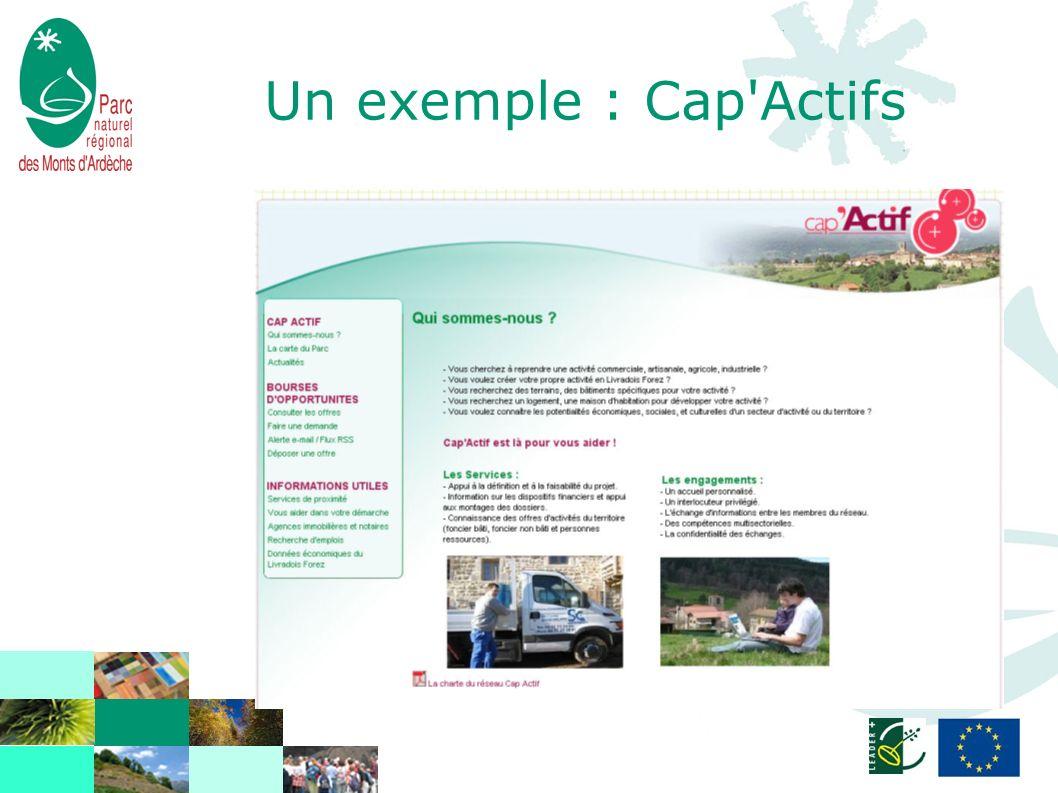 Un exemple : Cap'Actifs