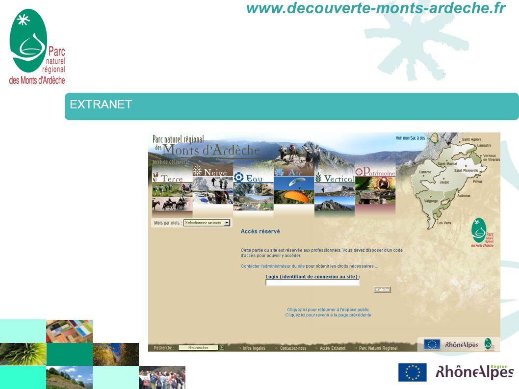 www.decouverte-monts-ardeche.fr EXTRANET