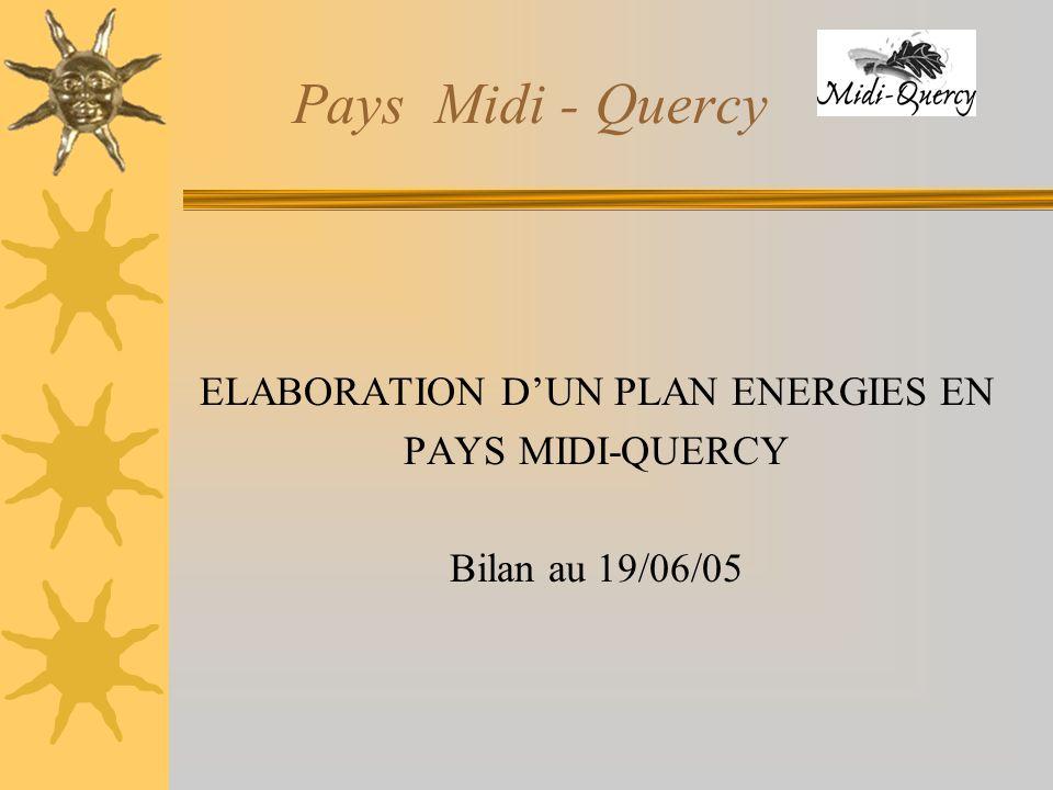 Pays Midi - Quercy ELABORATION DUN PLAN ENERGIES EN PAYS MIDI-QUERCY Bilan au 19/06/05