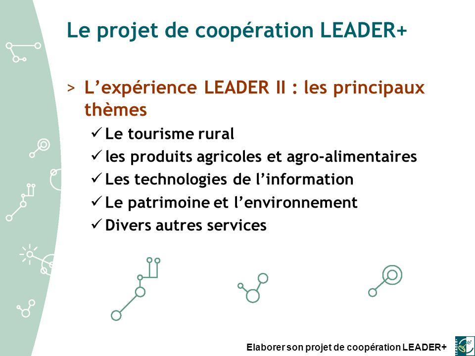 Elaborer son projet de coopération LEADER+ Fiche 2.