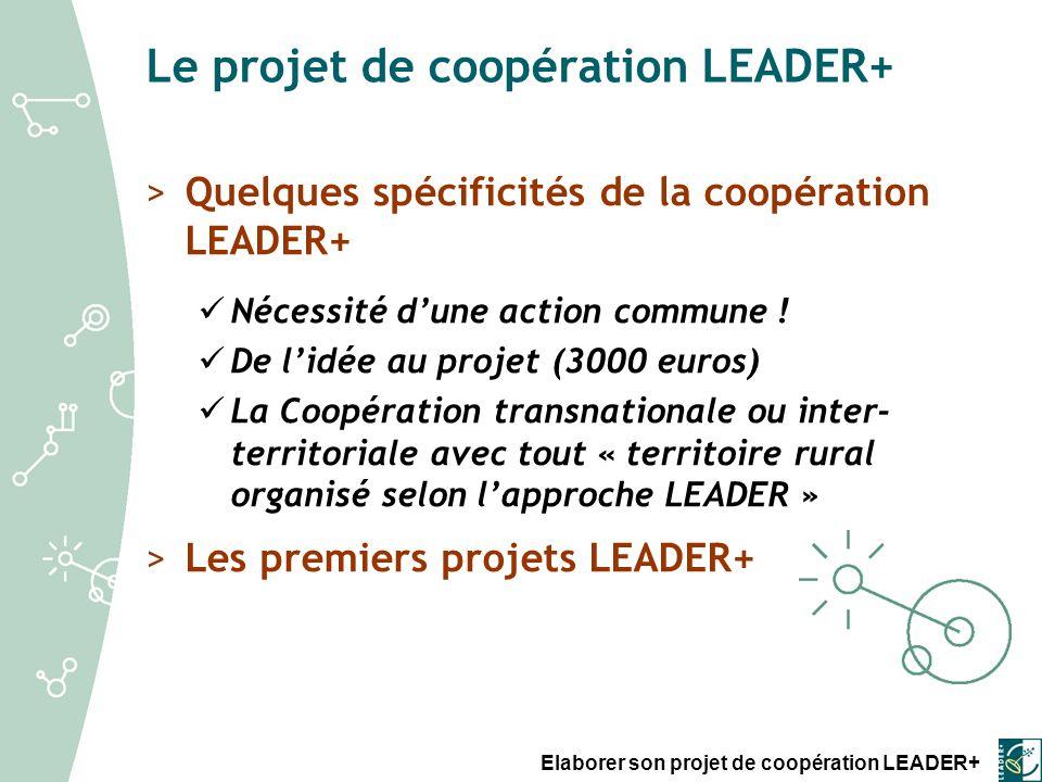 Elaborer son projet de coopération LEADER+ Fiches « Principes et méthodes » >Fiche 1.