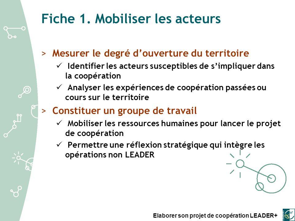 Elaborer son projet de coopération LEADER+ Fiche 1.