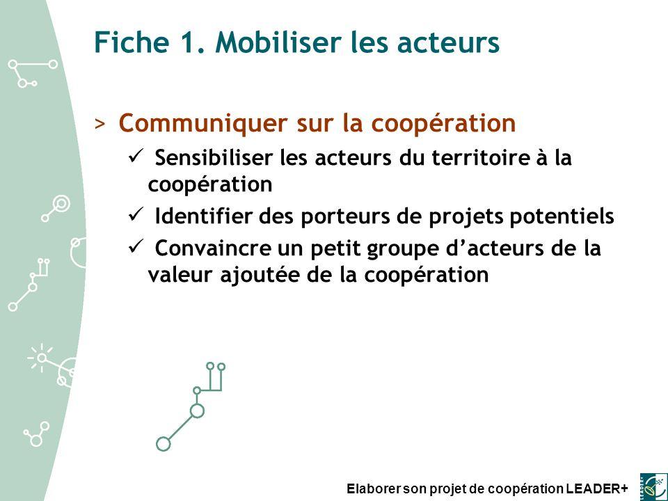 Elaborer son projet de coopération LEADER+ Fiche 5.