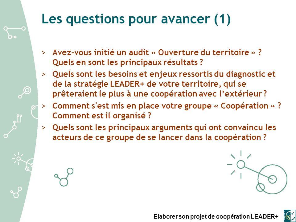 Elaborer son projet de coopération LEADER+ Les questions pour avancer (F.3) >Quelles sont les principales caractéristiques attendues de nos partenaires .