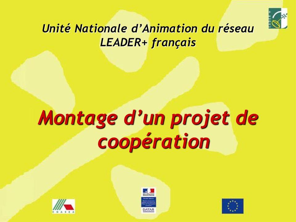 Unité Nationale dAnimation du réseau LEADER+ français Montage dun projet de coopération