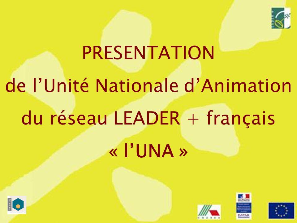 2 Présentation de lUNA Esprit, principes et organisation Les missions de lUNA Animation, capitalisation, coopération, Les priorités