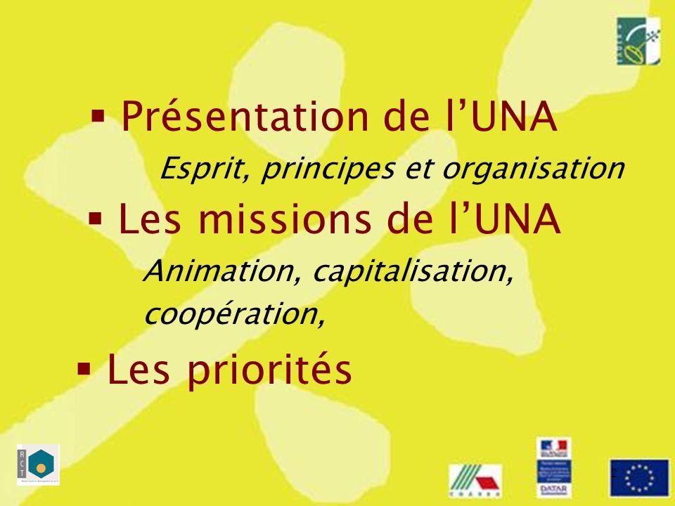 3 Lesprit Une conception large du réseau LUNA nest pas le réseau Un positionnement « au service de… » Limplication des autorités françaises Présentation de lUNA