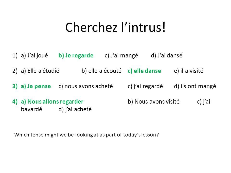 Cherchez lintrus.