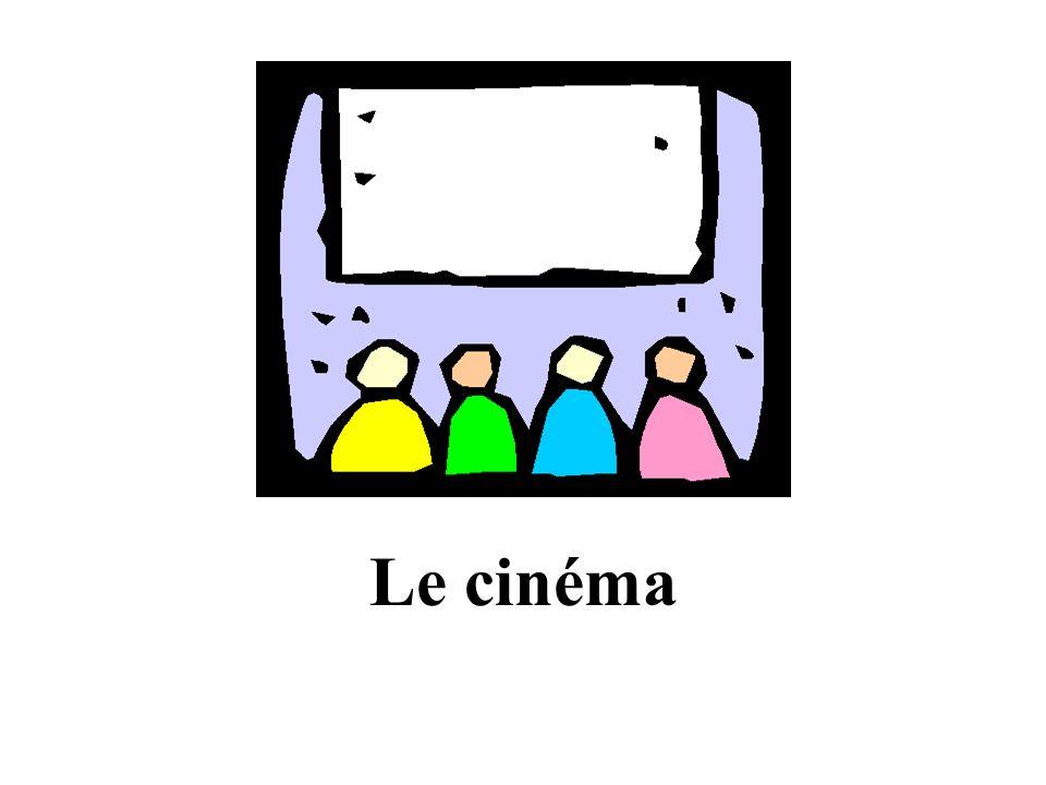 Le cinémaLe collège La gareLa piscine Le café La boulangerie Le parc La poste