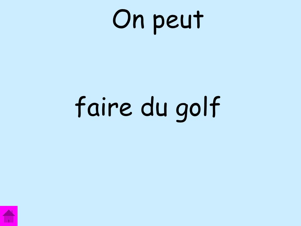 faire du golf On peut