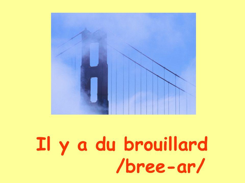 Il y a du brouillard /bree-ar/