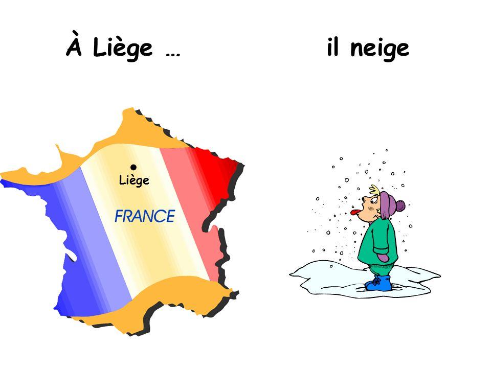 Liège À Liège …il neige