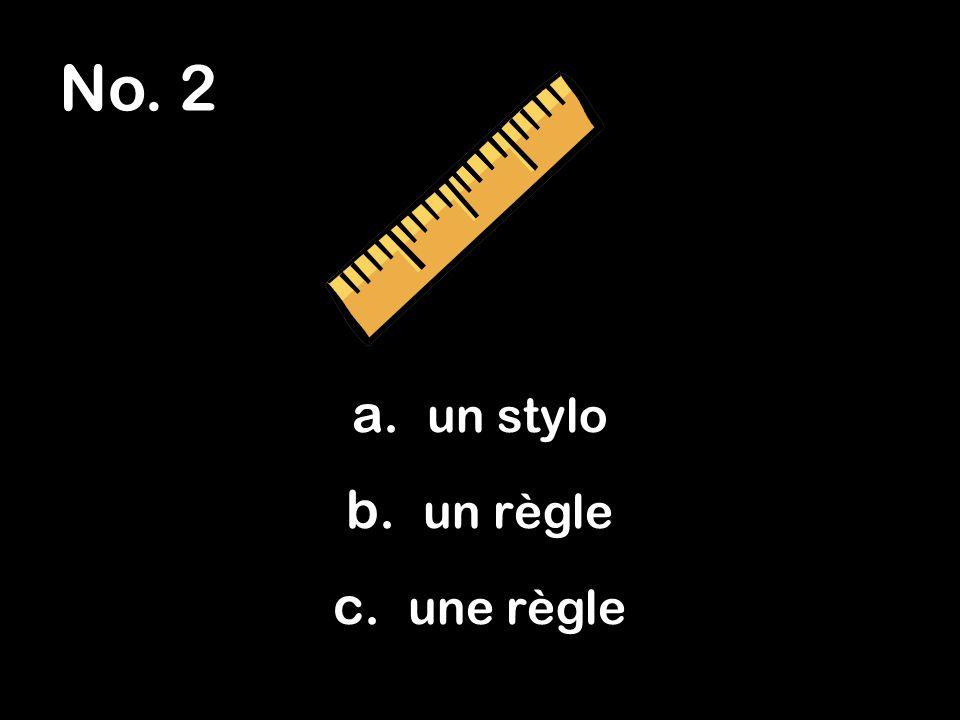No. 3 a. rouge b. rose c. roux