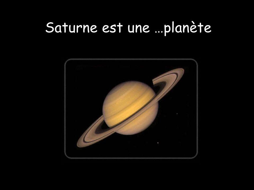 Saturne est une …planète