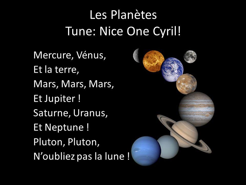 Les Planètes Tune: Nice One Cyril! Mercure, Vénus, Et la terre, Mars, Mars, Mars, Et Jupiter ! Saturne, Uranus, Et Neptune ! Pluton, Noubliez pas la l