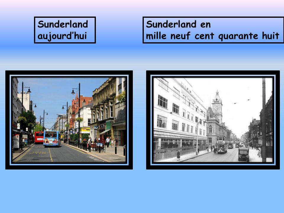 A Sunderland aujourdhui il y a des bus