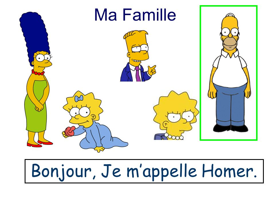 Ma Famille B………., J…. m…………. M…….