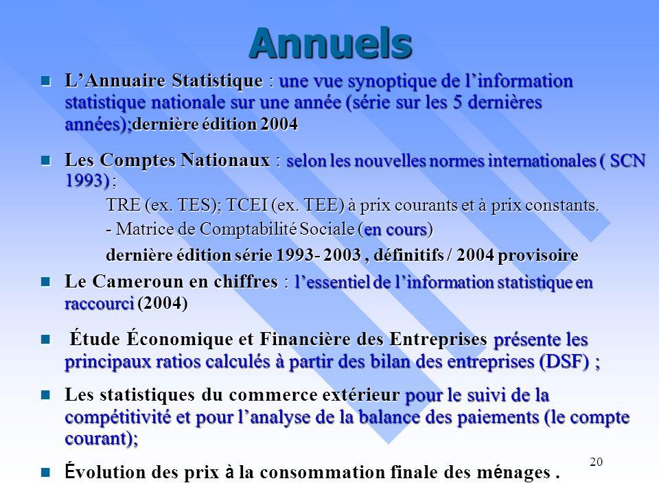 19 Trimestriels Le Bulletin Trimestriel de Conjoncture : Le Bulletin Trimestriel de Conjoncture : A lintention des décideurs (Gouvernement, secteur pr