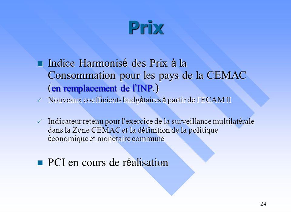 23 Secteur informel Les enquêtes sur le secteur informel (1993 & 1994 sur Yaound é ), 2005 est en cours d exploitation ( y compris rural/urbain ) : Po