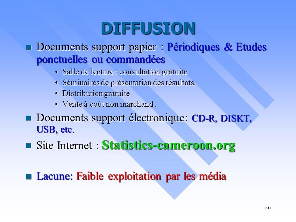 25 Coordination / Normalisation Rapport général du CNS Rapport général du CNS Nomenclatures des activités et produits du Cameroun ( dérivées des nomen