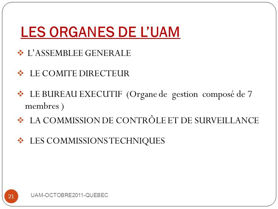 UAM-OCTOBRE2011-QUEBEC 20 PAYSSTRUCTURES MAROC MGPAP (MUTUELLE GENERALE DU PERSONNEL DES ADMINISTRATIONS PUBLIQUES) MUTUELLE DE LA POLICE SENEGAL MVCE