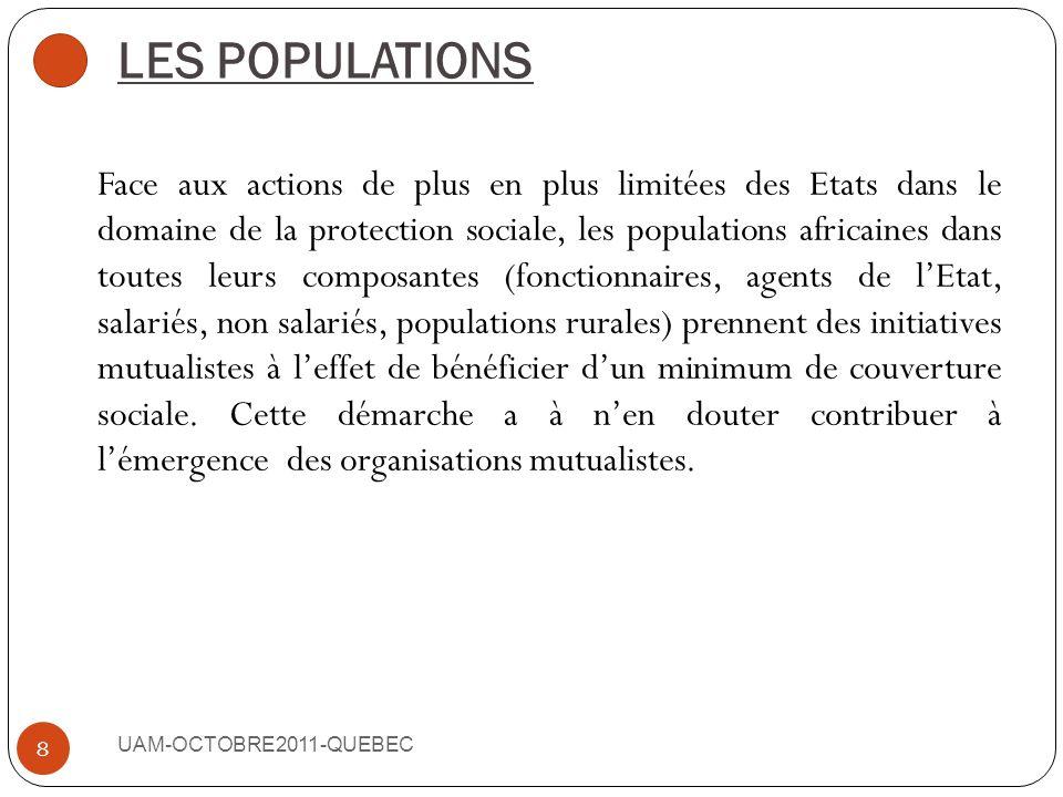 LES POUVOIRS PUBLICS ET LES ENTREPRISES PRIVEES UAM-OCTOBRE2011-QUEBEC 7 Les actions des Etats dans le cadre de la mutualisation des risques se situen