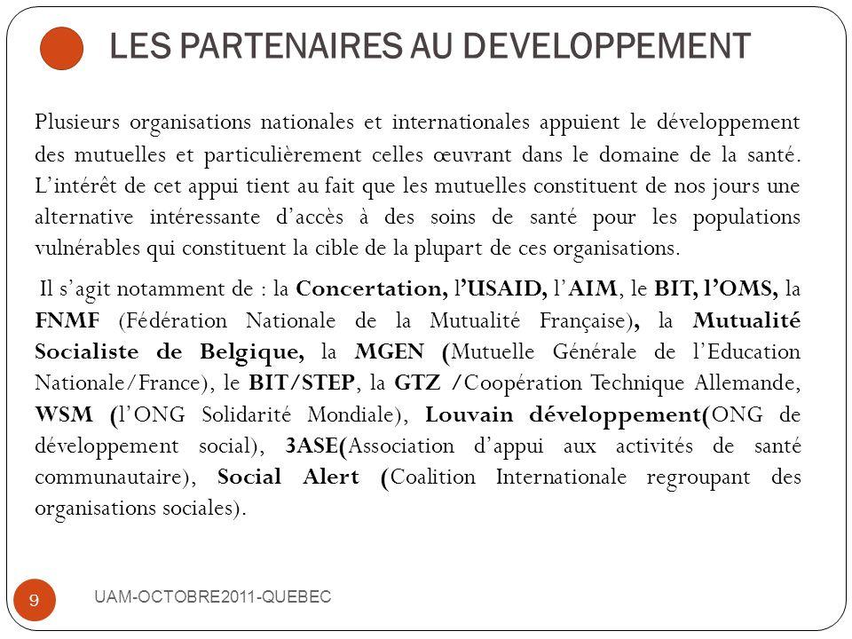 LES POPULATIONS UAM-OCTOBRE2011-QUEBEC 8 Face aux actions de plus en plus limitées des Etats dans le domaine de la protection sociale, les populations