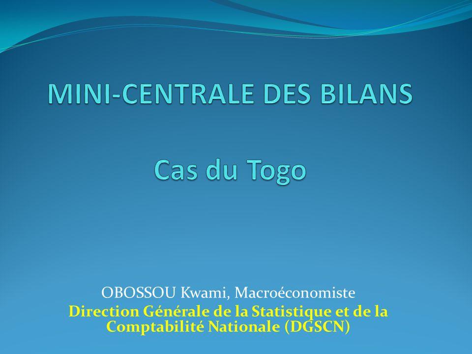 OBOSSOU Kwami, Macroéconomiste Direction Générale de la Statistique et de la Comptabilité Nationale (DGSCN)
