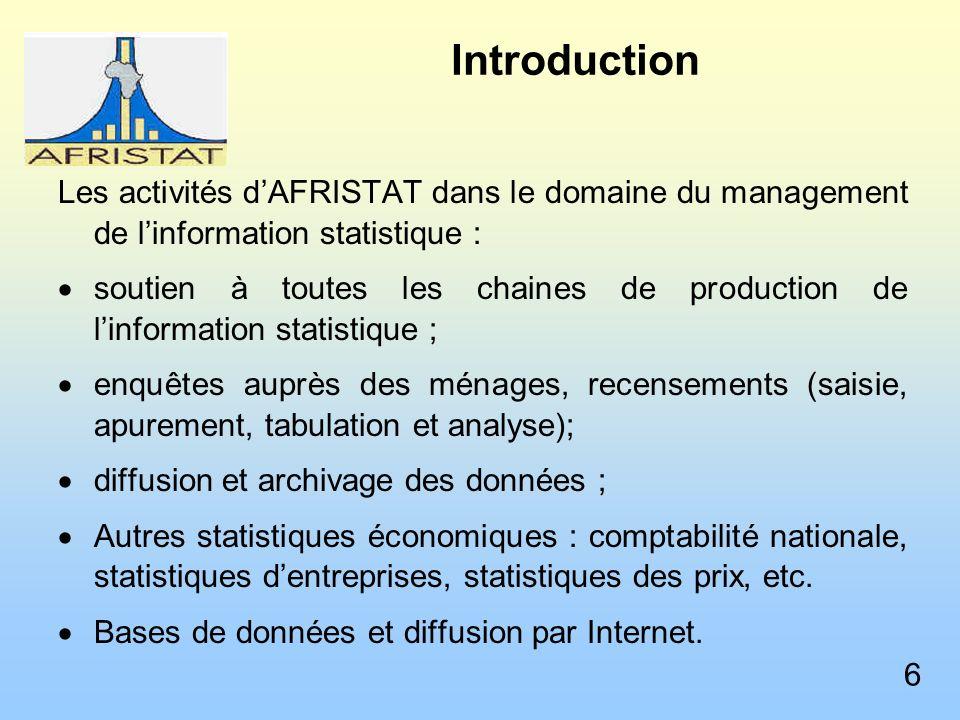 La gestion des données dans les différents domaines statistiques Indice harmonisé des prix à la consommation (IPC) Depuis 1996.