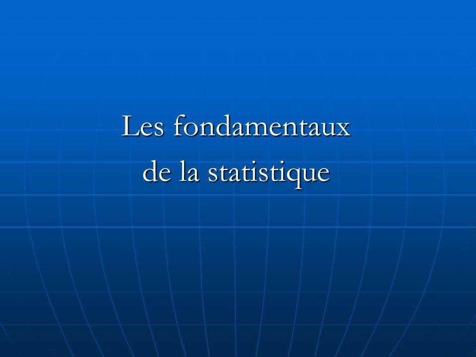 Les fondamentaux de la statistique