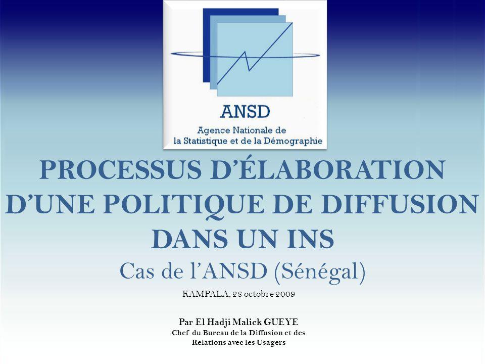 MERCI DE VOTRE ATTENTION Agence Nationale de la Statistique et de la Démographie - Sénégal ANSD : Système de diffusion des données statistiques - Kampala, 28 octobre 2009