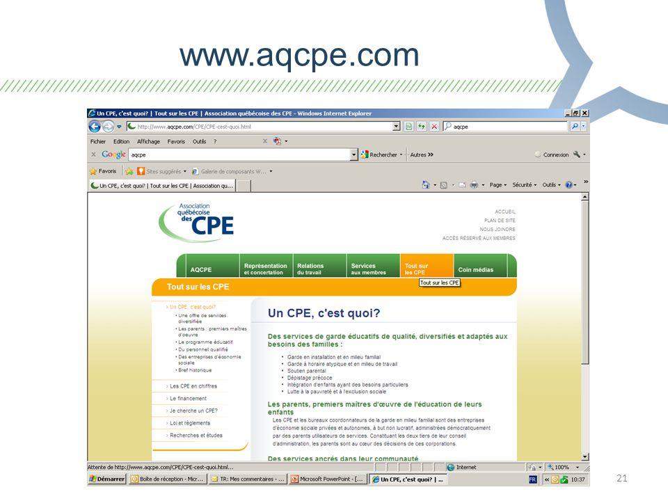 21 www.aqcpe.com