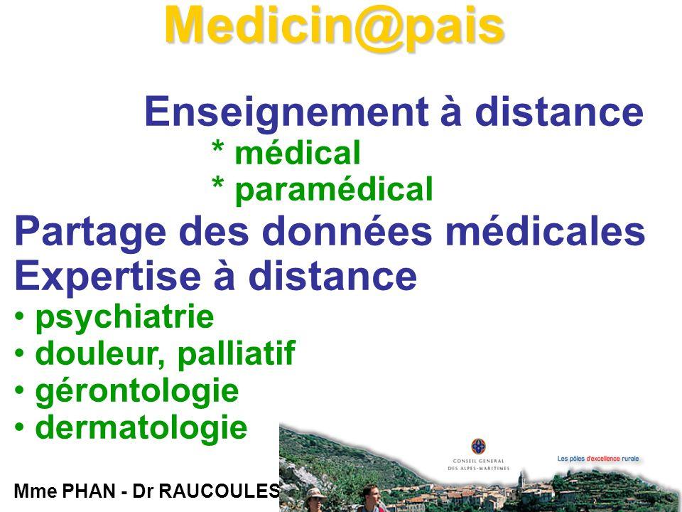En cas de recours à la télémédecine au Centre médical de Langogne CH Le Puy en Velay Centre Médical de Langogne Hôpital Local (*) Transferts : radiographies, gynéco-obstétrique, évaluation gériatrique, dermatologie, etc.