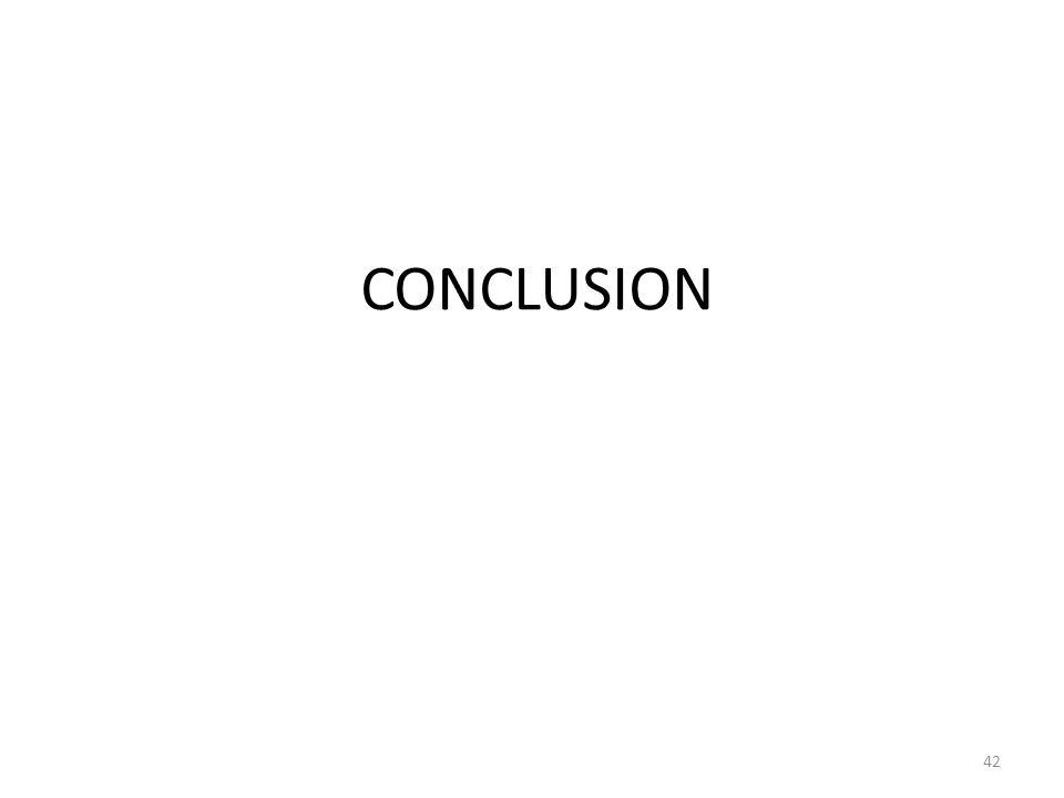 CONCLUSION 42