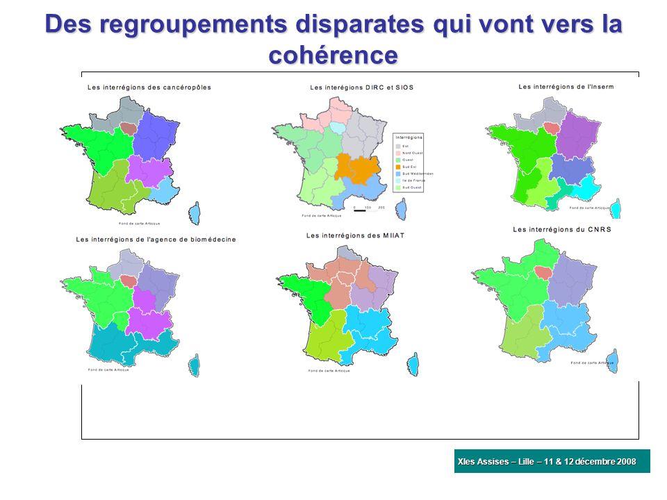 Des regroupements disparates qui vont vers la cohérence XIes Assises – Lille – 11 & 12 décembre 2008