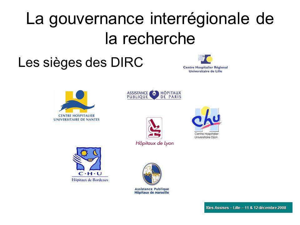 La gouvernance interrégionale de la recherche Les sièges des DIRC qui sommes-nous?qui sommes-nous? convention constitutive membres du GIP appel à proj