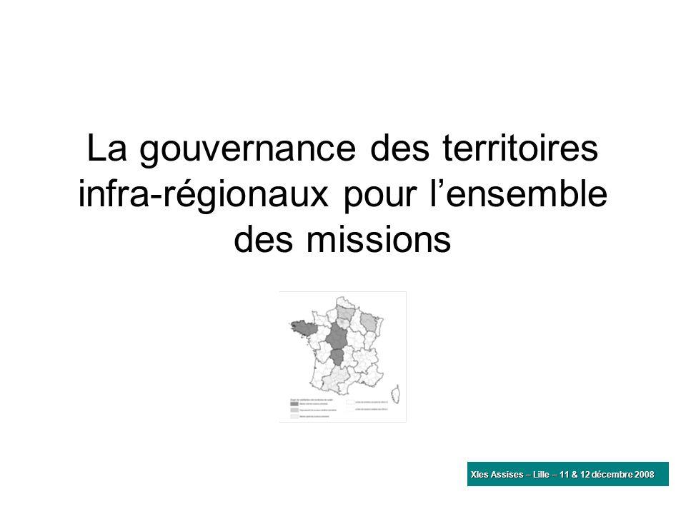 La gouvernance des territoires infra-régionaux pour lensemble des missions XIes Assises – Lille – 11 & 12 décembre 2008