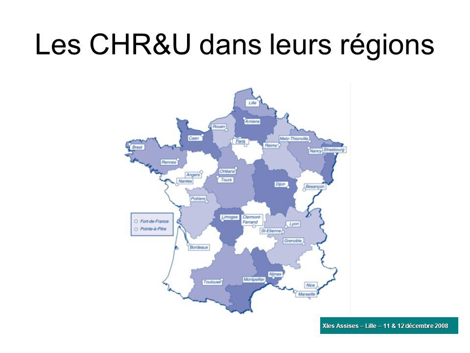 Les CHR&U dans leurs régions XIes Assises – Lille – 11 & 12 décembre 2008