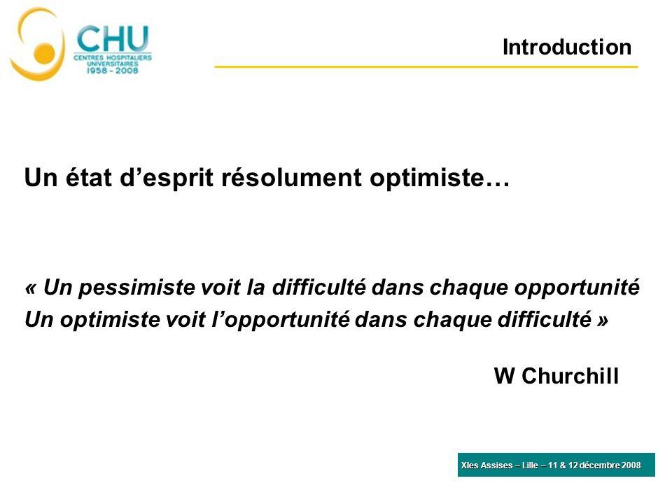 Introduction Un état desprit résolument optimiste… « Un pessimiste voit la difficulté dans chaque opportunité Un optimiste voit lopportunité dans chaq