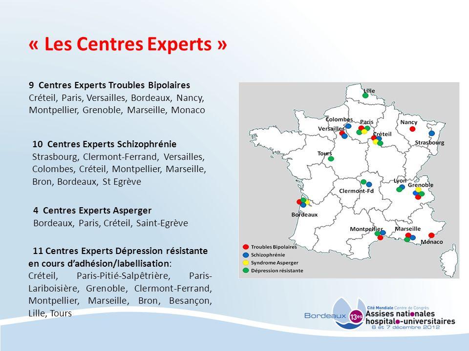 « Les Centres Experts » 9 Centres Experts Troubles Bipolaires Créteil, Paris, Versailles, Bordeaux, Nancy, Montpellier, Grenoble, Marseille, Monaco 10