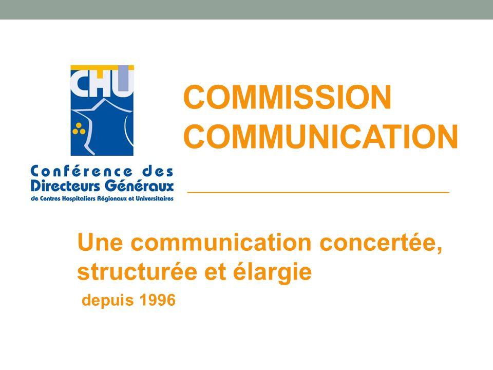 COMMISSION COMMUNICATION Une communication concertée, structurée et élargie depuis 1996 ___________________