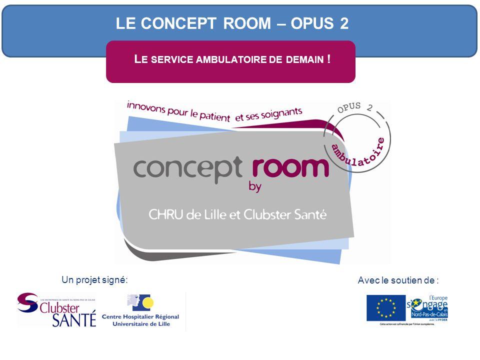 Avec le soutien de : Un projet signé: L E SERVICE AMBULATOIRE DE DEMAIN ! LE CONCEPT ROOM – OPUS 2