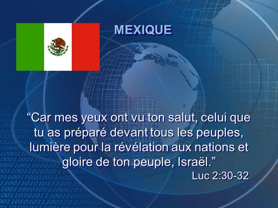 Car mes yeux ont vu ton salut, celui que tu as préparé devant tous les peuples, lumière pour la révélation aux nations et gloire de ton peuple, Israël