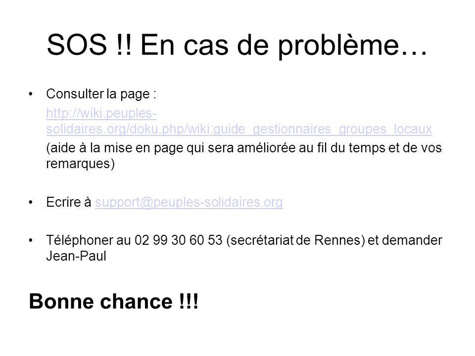 SOS !.
